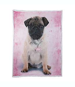 Frazada reversible Frida Rachael Hale® con estampado de perro en rosa