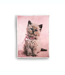 Frazada reversible Marshmallow Rachael Hale® con estampado de gato en rosa