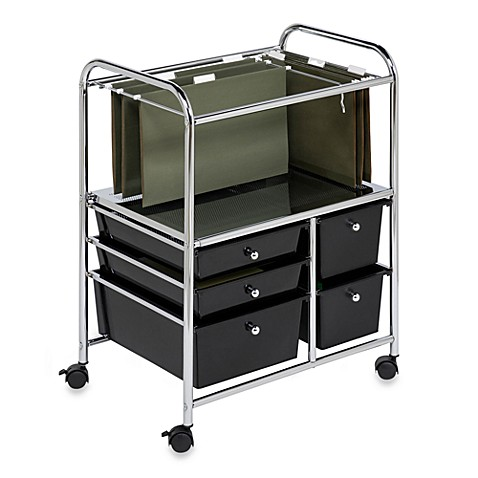 Honey-Can-Do® Steel Rolling File Cart