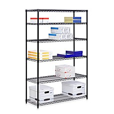 image of Honey-Can-Do® Brushed Steel 6-Tier Shelving Unit