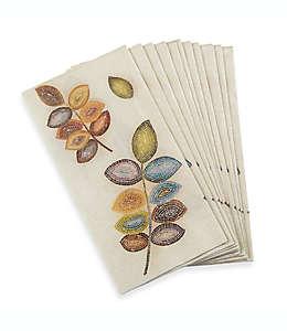 Toallas desechables Croscill® Mosaic, con diseño de hojas, Paquete de 16