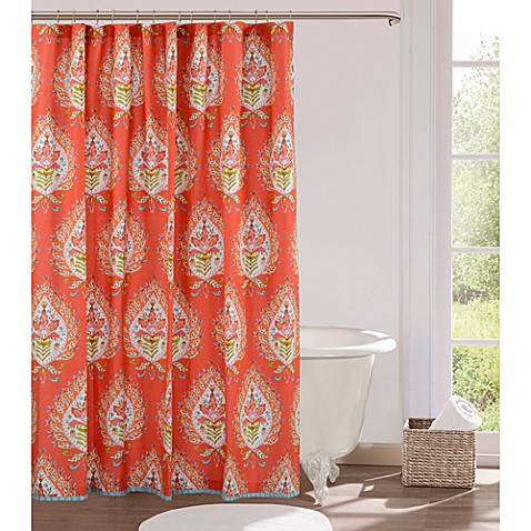 Kalani 72-Inch x 72-Inch Fabric Shower Curtain - Bed Bath & Beyond