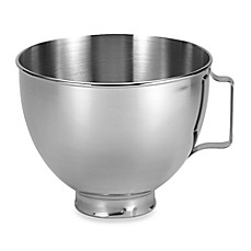 image of KitchenAid® 4.5-Quart Polished Stainless Steel Bowl with Handle