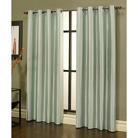 Buy Sherry Kline Faux Silk Grommet Top 84 Inch Window Curtain Panels In Green Set Of 2 From