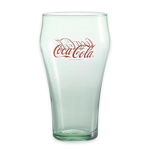 Luminarc coca cola 20 ounce green bell glasses set of 4 bed bath - Verre coca cola luminarc ...