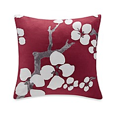 image of N Natori® Cherry Blossom Square Throw Pillow in Red