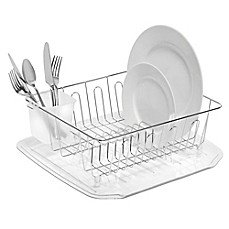 image of SALT™ Small Dish Drainer in Chrome