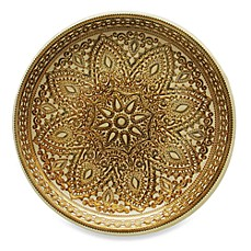 image of ChargeIt! By Jay Divine Set of 4 Glass Charger Plate in Gold