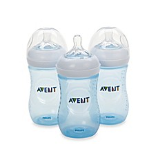 image of Phillips Avent Natural 3-Pack 9 oz. Bottles in Blue