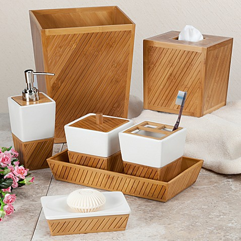 Bamboo Spa Toothbrush Holder