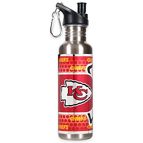 Kansas City Chiefs 26-Ounce Stainless Steel Water Bottle