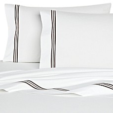 image of Bellino Fine Linens® Tivoli Cotton Flat Sheet in Chocolate