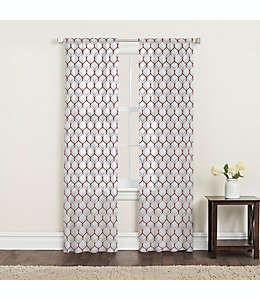 Cortinas de algodón Landry SALT™ con dobladillo 2.13 m color mora/gris