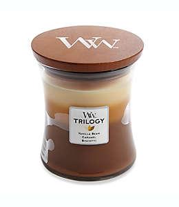 Vela en vaso de vidrio WoodWick® Trilogy Café Sweets de 283.49 g