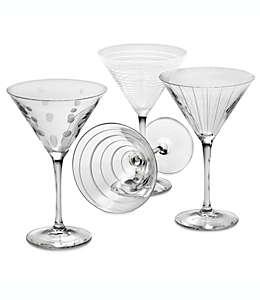 Copas para Martini de vidrio Mikasa® Cheers, de 295.73 mL, Set de 4 pzas.