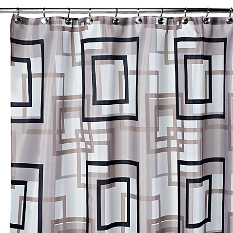 carnation home fashions lexington 108inch x 72inch fabric shower curtain