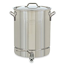 image of Bayou Classic® Stainless Steel Stock Pot with Spigot and Vented Lid
