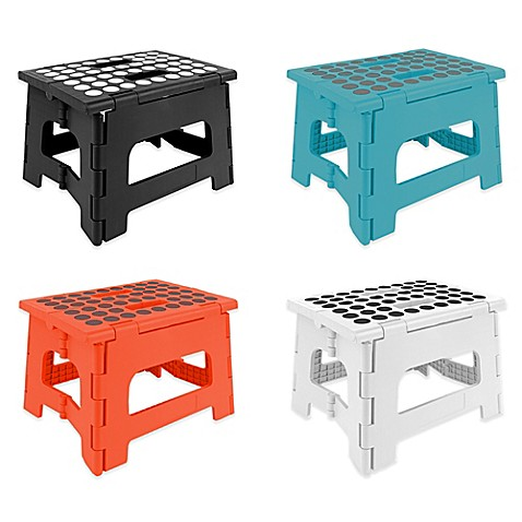 Kikkerlandu0026reg; Easy Folding Step Stool  sc 1 st  Bed Bath u0026 Beyond : kikkerland easy fold step stool - islam-shia.org