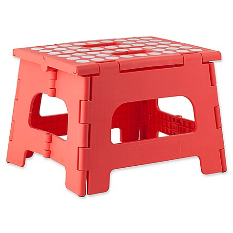 Buy Kikkerland 174 Easy Folding Step Stool In Azalea From Bed