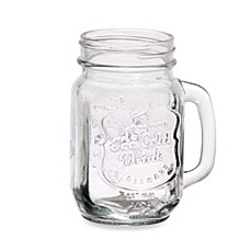 image of Impressions Ice Cold Embossed Mason Jar Glasses (Set of 4)