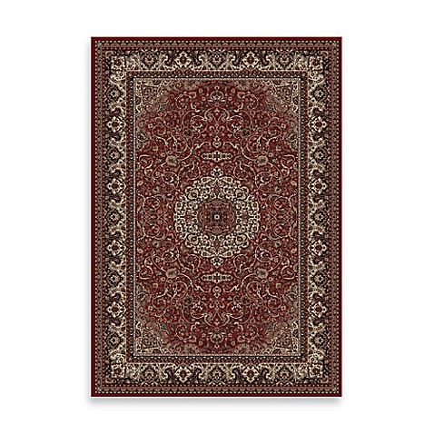 Concord Global Trading Isfahan Red 5-Foot 3-Inch x 7-Foot 7-Inch Rug