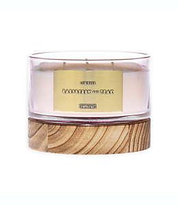 Vela de 3 pabilos en vaso de vidrio DW Home aroma frambuesa y teca, 368.54 g (13 oz)