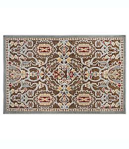 Tapete decorativo con diseño floral, Home Dynamix 48.26 x 78.74 cm en café pardo