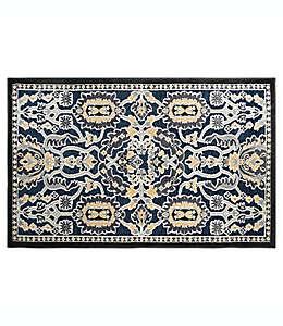 Tapete decorativo con diseño floral, Home Dynamix 48.26 x 78.74 cm en azul marino