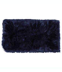 Tapete decorativo de pelo sintético, Aspen Home Dynamix 76.2 cm x1.19m en azul marino