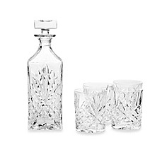 image of Godinger Dublin Crystal  Whiskey 5-Piece Barware Set