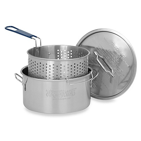 Bayou Classic 174 14 Quart Stainless Fry Pot With Basket And