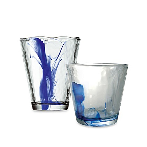 Bormioli Rocco Murano 4-Piece Blue Barware Set