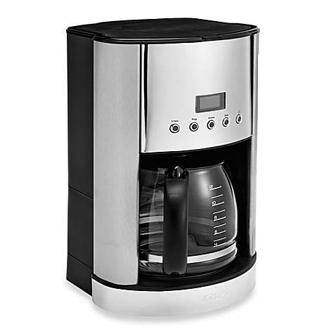 buy krups 12 cup stainless steel coffee maker from bed bath beyond. Black Bedroom Furniture Sets. Home Design Ideas