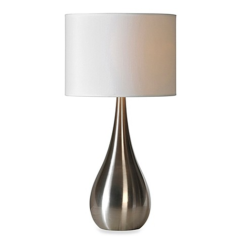 ren wil alba stainless steel table lamp bed bath beyond. Black Bedroom Furniture Sets. Home Design Ideas