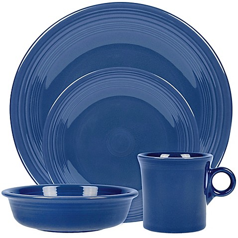 image of fiesta dinnerware collection in lapis - Fiesta Plates