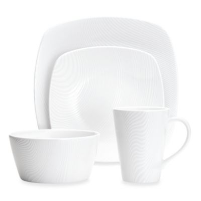 image of Noritake® White on White Dune Square Dinnerware Collection