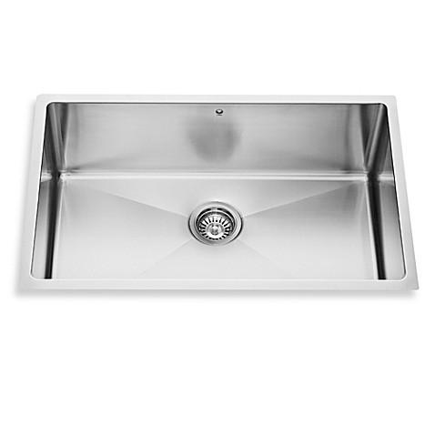 vigo 30 inch single bowl stainless steel undermount