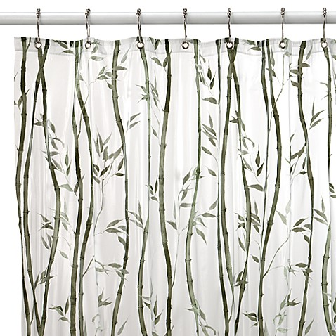 Shower Curtains are vinyl shower curtains safe : Bamboo Vinyl Shower Curtain - Bed Bath & Beyond