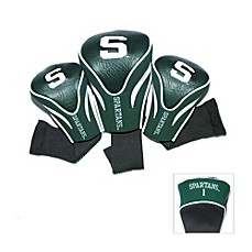 image of Michigan State University 3-Pack Contour Golf Club Headcovers