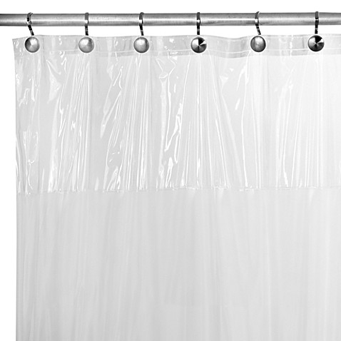 image of smart view peva 70inch x 72inch shower curtain liner in