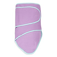 image of Miracle Blanket® Swaddle in Purple with Mint Trim