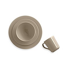 image of Real Simple® Round Dinnerware in Taupe