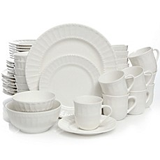 Gibson Home Heritage Place 48-Piece Dinnerware Set  sc 1 st  Bed Bath u0026 Beyond : white dinnerware sets - Pezcame.Com