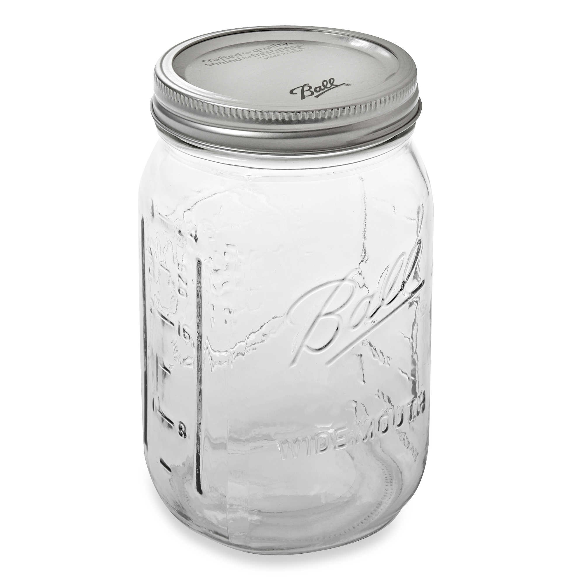 Ball® Wide Mouth 12-Pack Glass Canning Jars - Bed Bath & Beyond