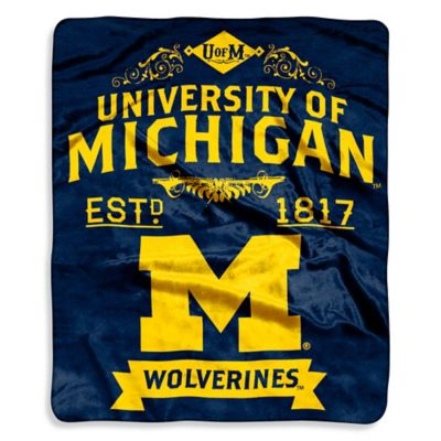 image of University of Michigan Raschel Throw