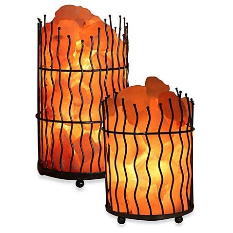 Himalayan glow ionic salt crystal wavy basket lamp bed for Wbm 7 tall himalayan natural crystal salt lamp