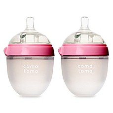 image of Comotomo™ 5-Ounce Baby Bottles in Pink (2-Pack)