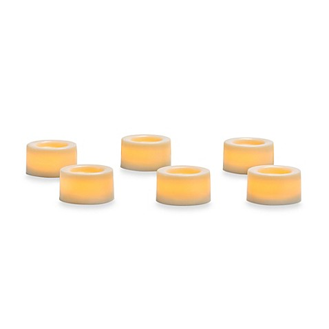 Candle Impressions® 6-Pack Flameless Smooth Mini Votive Candles