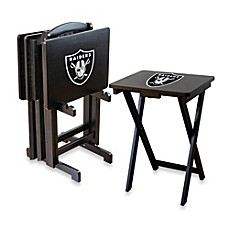 Nfl Oakland Raiders Tv Tray With Stand Set Of 4