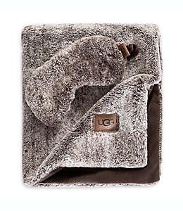 UGG® Pinecreek Set de viaje de pelo sintético en chocolate